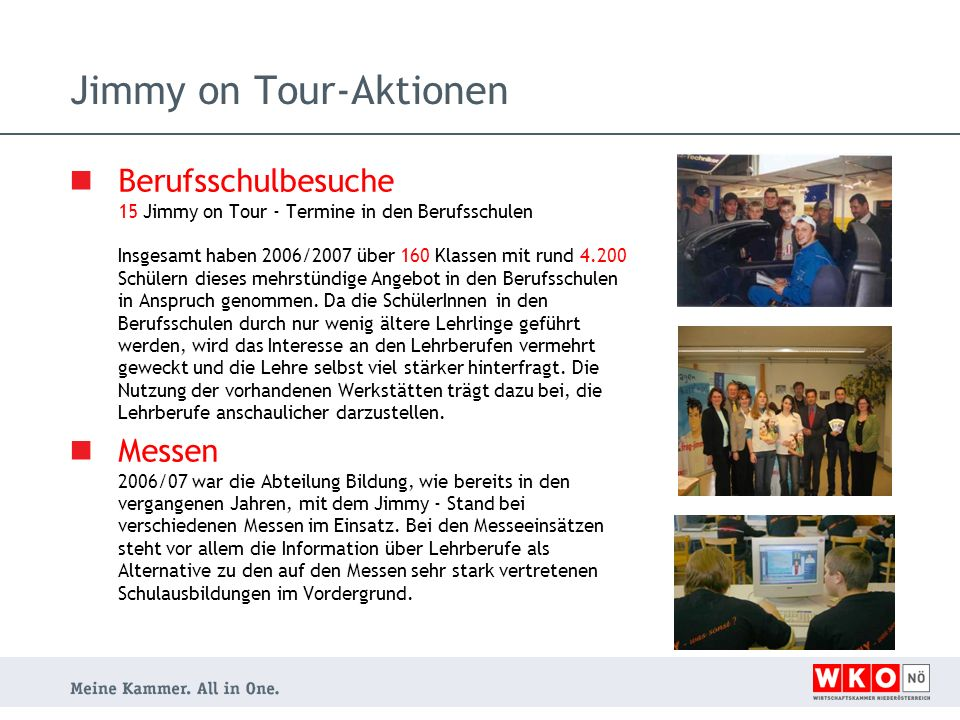 Jimmy on Tour-Aktionen