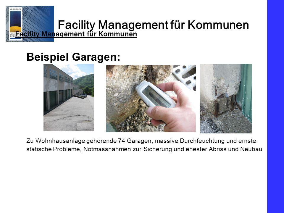 Beispiel Garagen: Facility Management für Kommunen