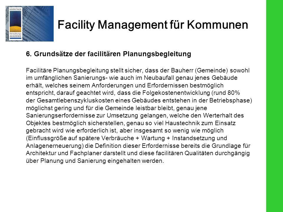 6. Grundsätze der facilitären Planungsbegleitung