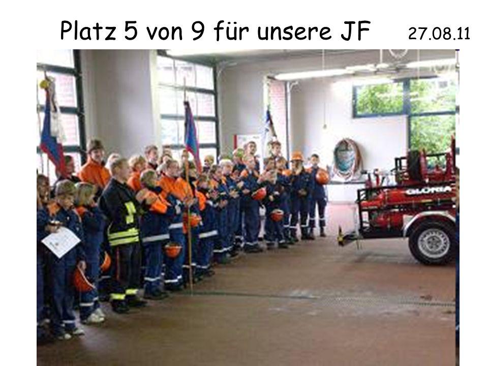 Platz 5 von 9 für unsere JF 27.08.11