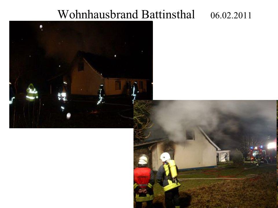 Wohnhausbrand Battinsthal 06.02.2011