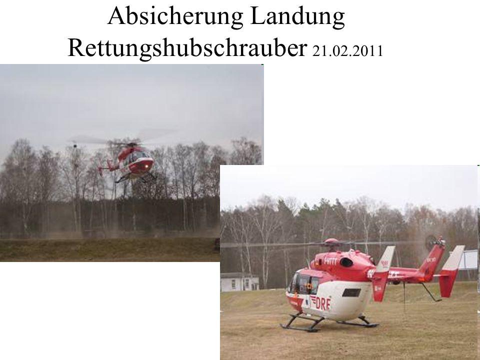Absicherung Landung Rettungshubschrauber 21.02.2011