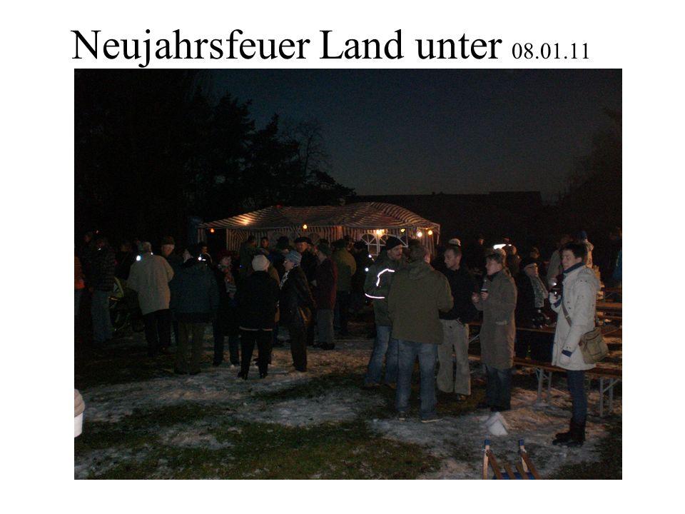 Neujahrsfeuer Land unter 08.01.11