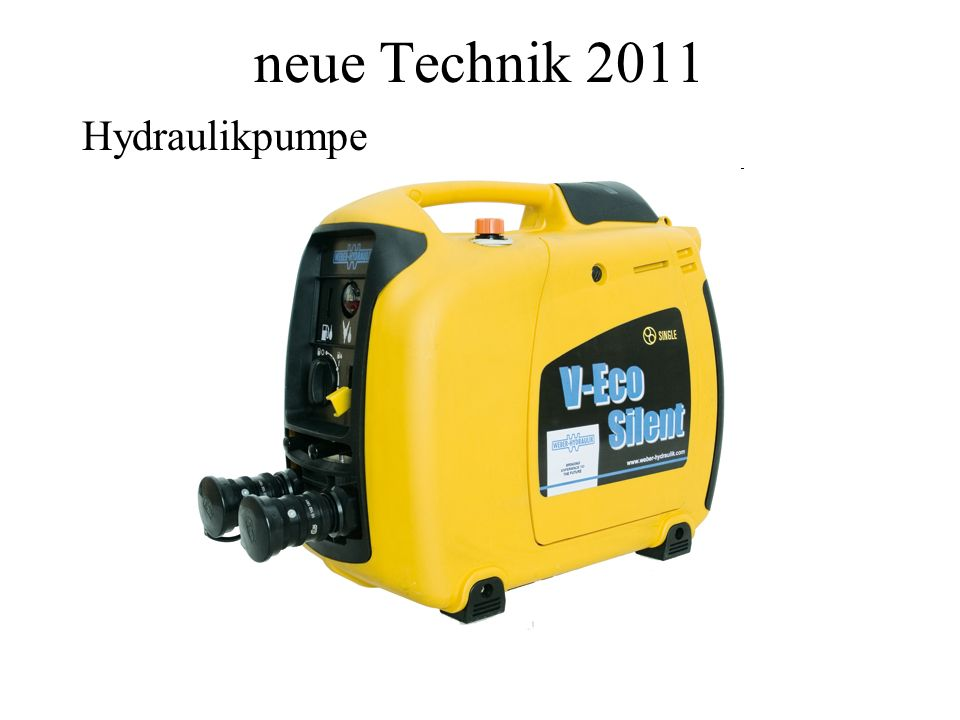 neue Technik 2011 Hydraulikpumpe