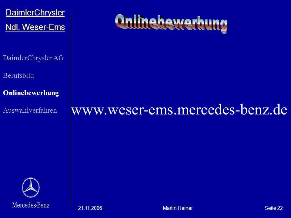 www.weser-ems.mercedes-benz.de Onlinebewerbung DaimlerChrysler