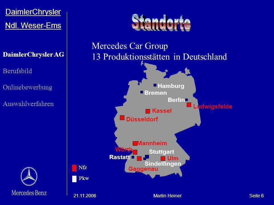 Standorte Mercedes Car Group 13 Produktionsstätten in Deutschland