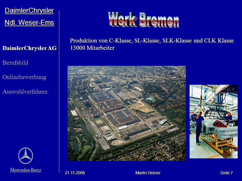 Werk Bremen DaimlerChrysler Ndl. Weser-Ems