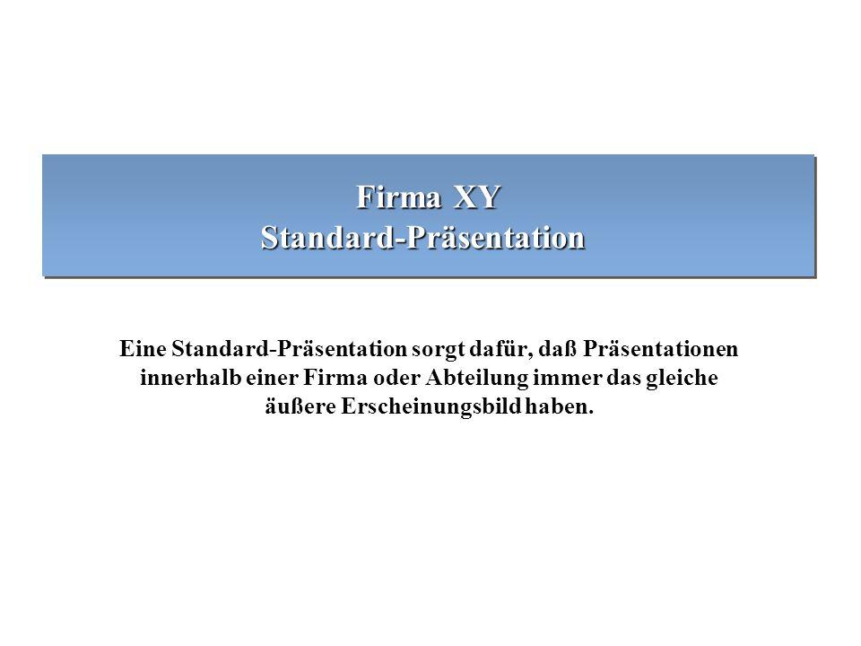 Firma XY Standard-Präsentation