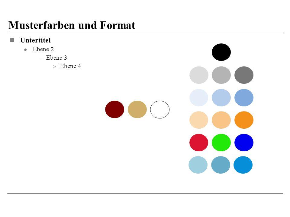Musterfarben und Format