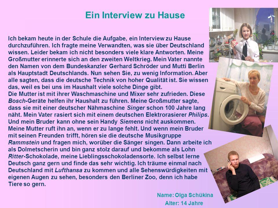 Ein Interview zu Hause