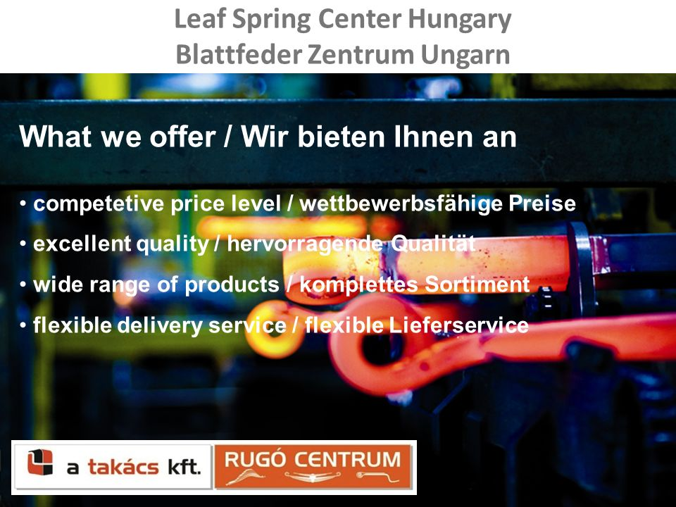 Leaf Spring Center Hungary Blattfeder Zentrum Ungarn
