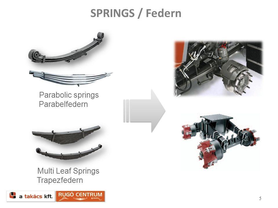 SPRINGS / Federn Parabolic springs Parabelfedern Multi Leaf Springs