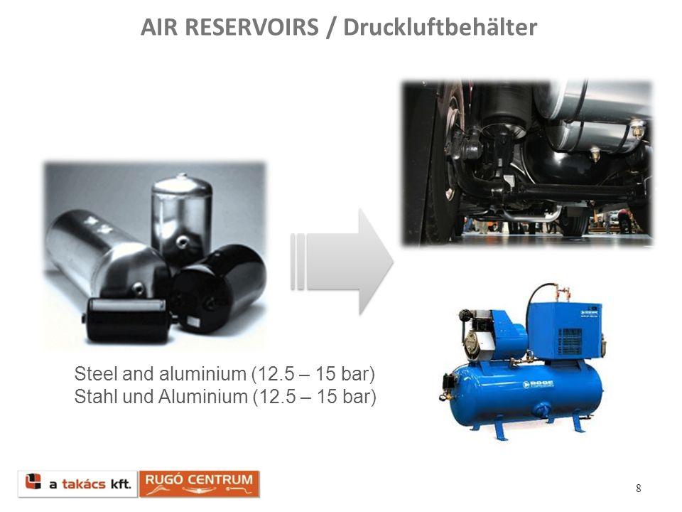 AIR RESERVOIRS / Druckluftbehälter