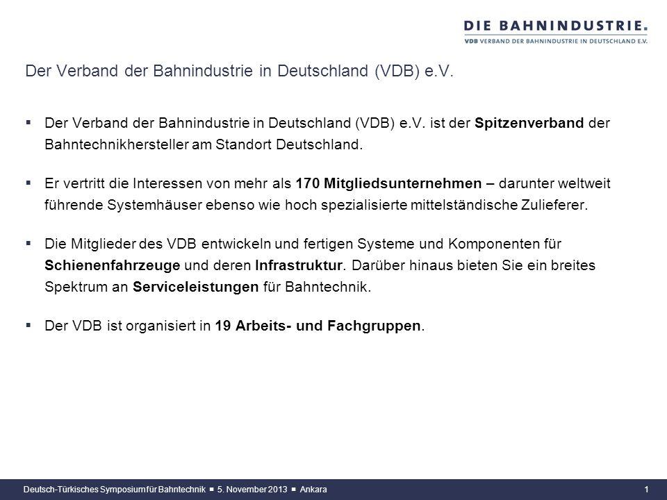 Der Verband der Bahnindustrie in Deutschland (VDB) e.V.