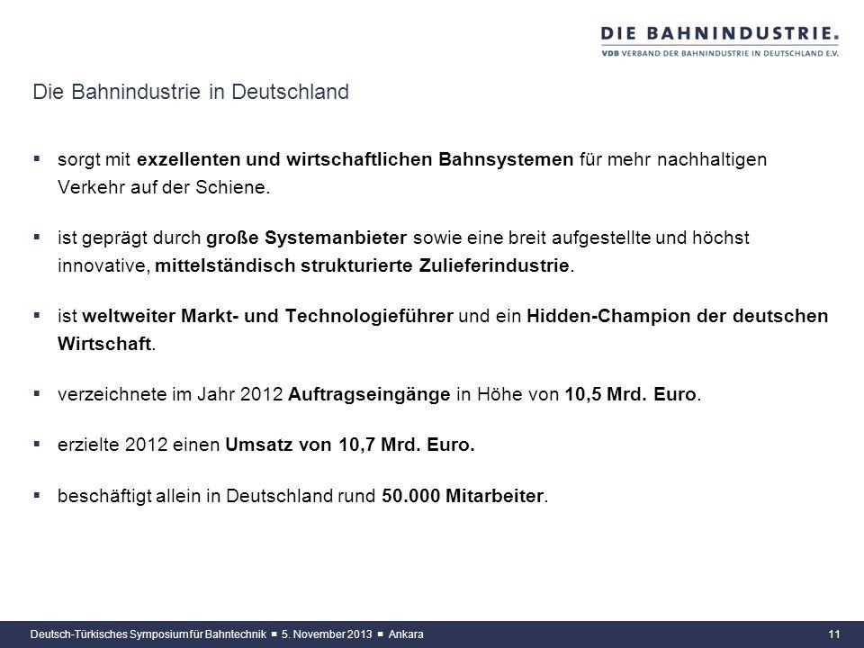 Die Bahnindustrie in Deutschland