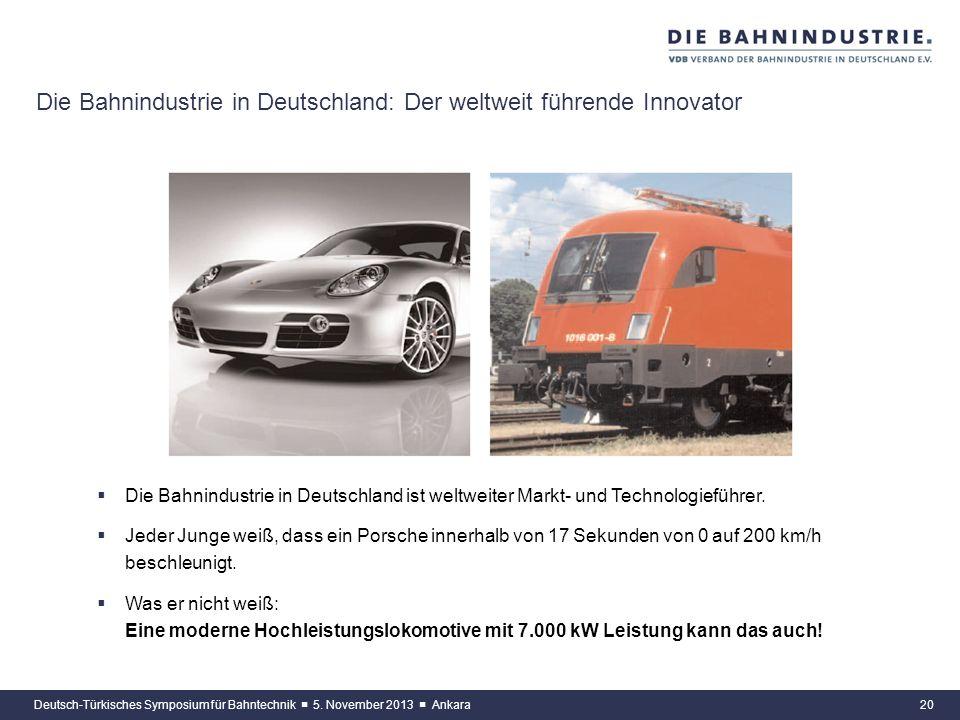 Die Bahnindustrie in Deutschland: Der weltweit führende Innovator