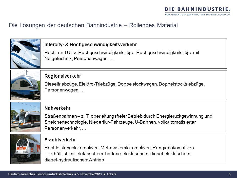 Die Lösungen der deutschen Bahnindustrie – Rollendes Material