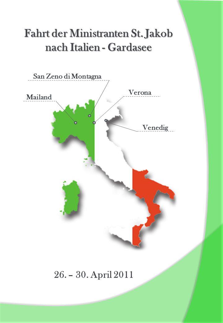 Fahrt der Ministranten St. Jakob nach Italien - Gardasee