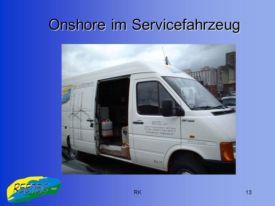Onshore im Servicefahrzeug