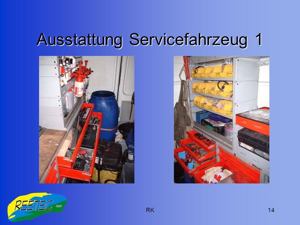 Ausstattung Servicefahrzeug 1
