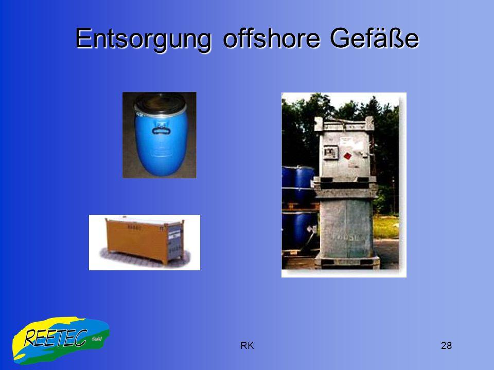 Entsorgung offshore Gefäße