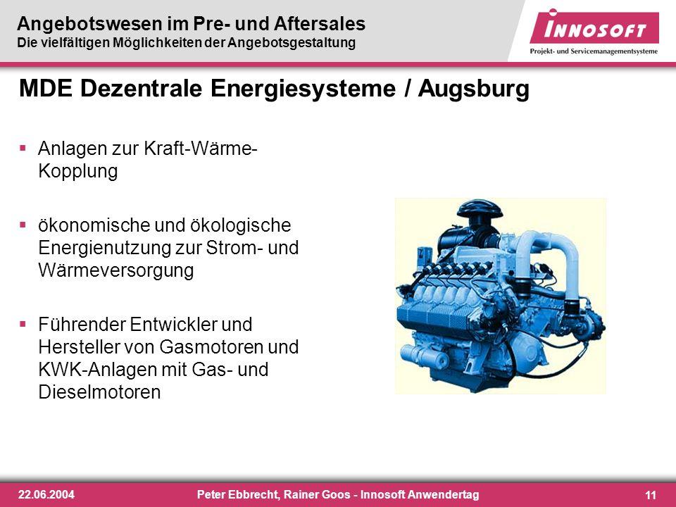 MDE Dezentrale Energiesysteme / Augsburg
