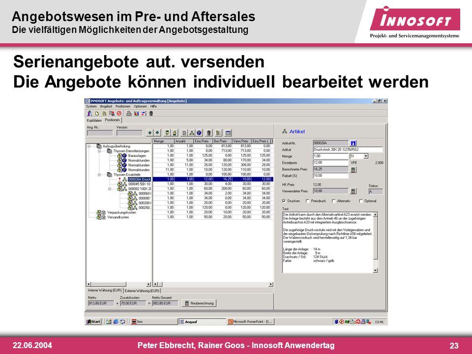 Peter Ebbrecht, Rainer Goos - Innosoft Anwendertag