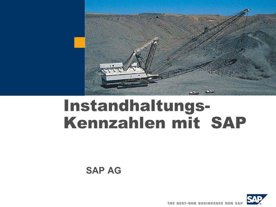 Instandhaltungs- Kennzahlen mit SAP
