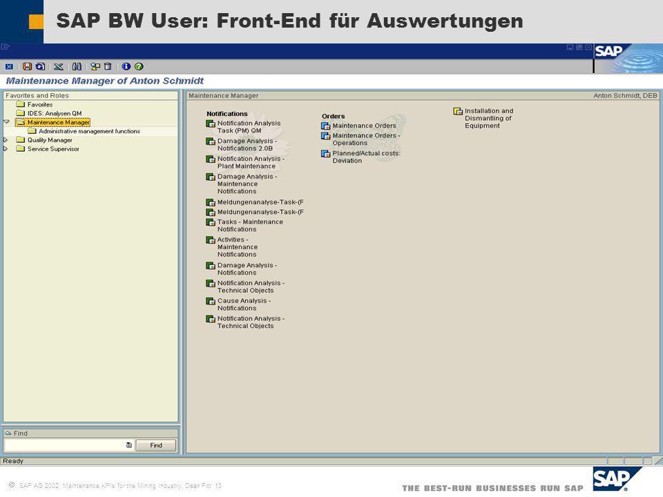 SAP BW User: Front-End für Auswertungen