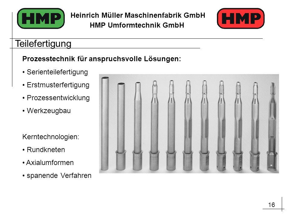 Teilefertigung Prozesstechnik für anspruchsvolle Lösungen: