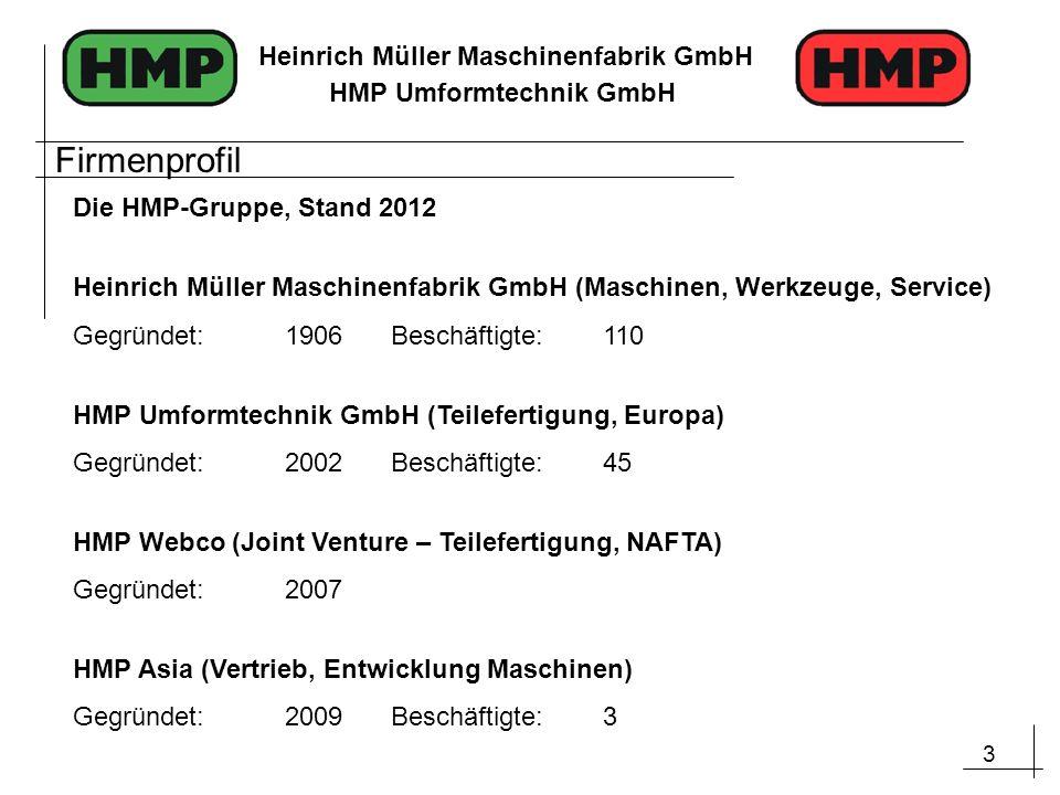Firmenprofil Die HMP-Gruppe, Stand 2012