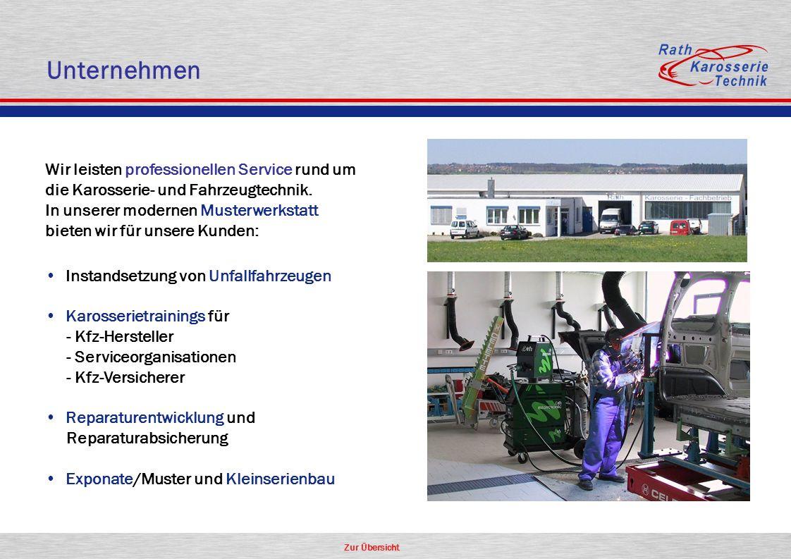 Unternehmen Wir leisten professionellen Service rund um die Karosserie- und Fahrzeugtechnik. In unserer modernen Musterwerkstatt.