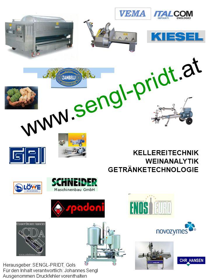 www.sengl-pridt.at KELLEREITECHNIK WEINANALYTIK GETRÄNKETECHNOLOGIE