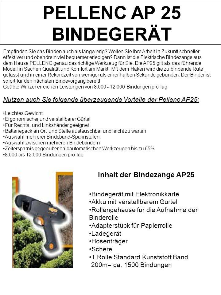 Inhalt der Bindezange AP25
