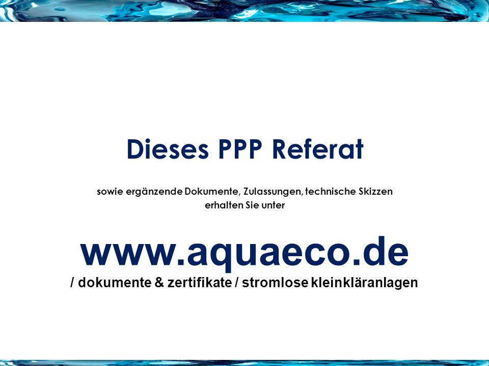 www.aquaeco.de Dieses PPP Referat
