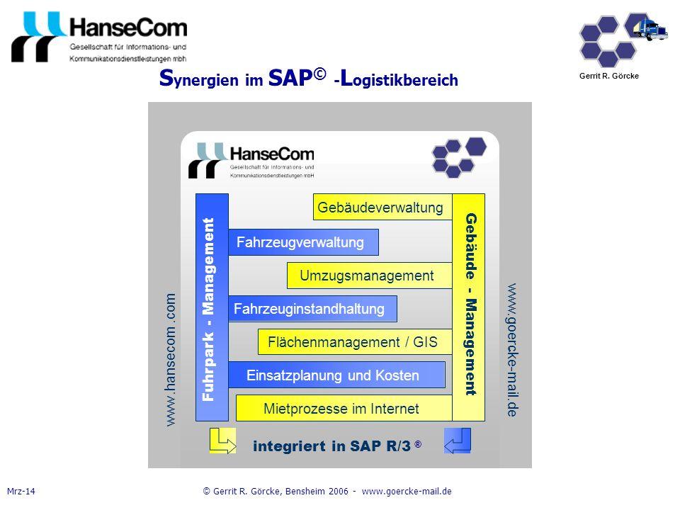 Synergien im SAP© -Logistikbereich