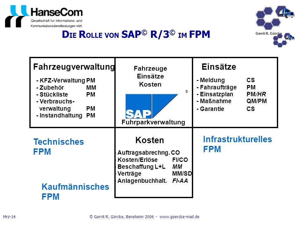 DIE ROLLE VON SAP© R/3© IM FPM