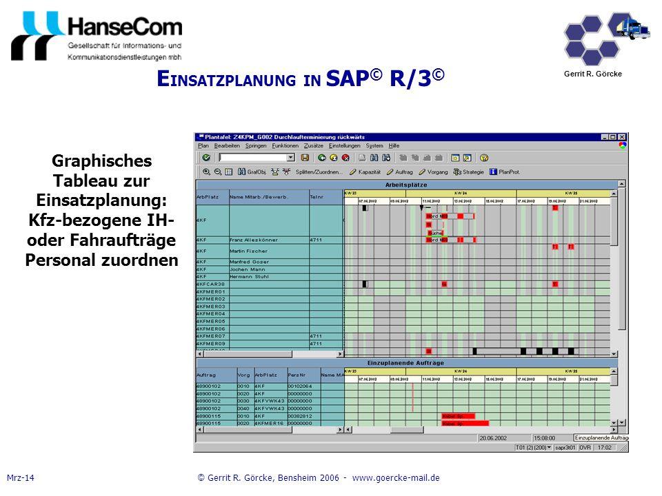 EINSATZPLANUNG IN SAP© R/3©