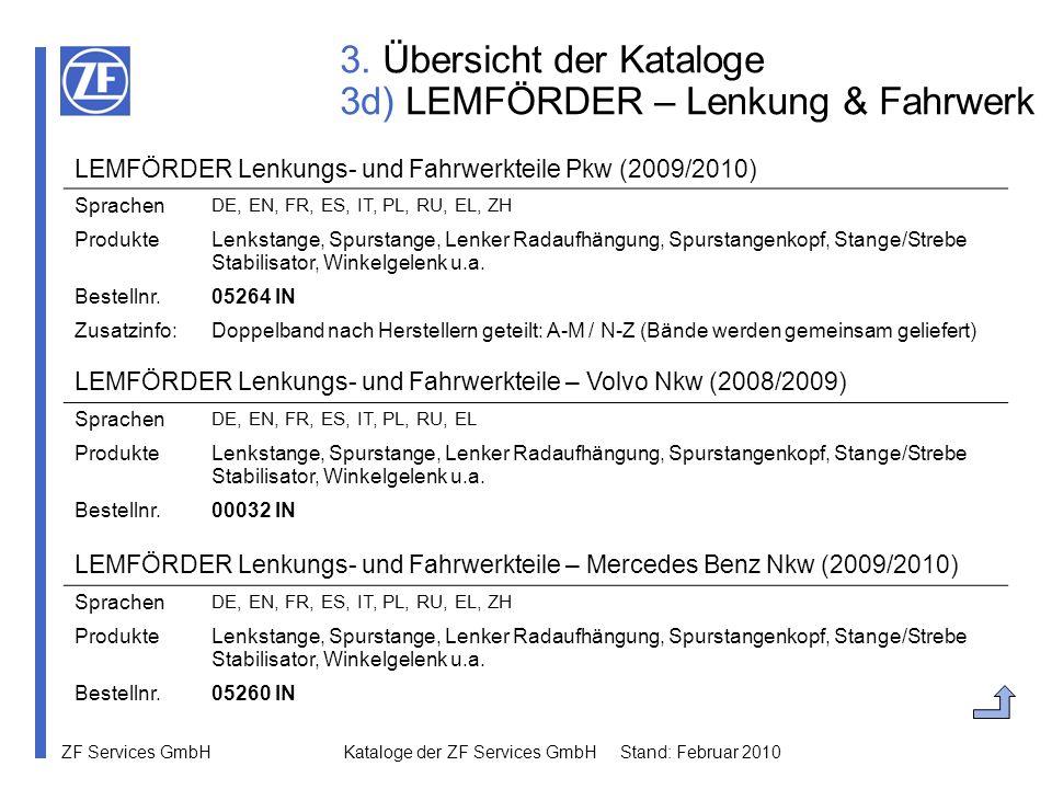 3. Übersicht der Kataloge 3d) LEMFÖRDER – Lenkung & Fahrwerk