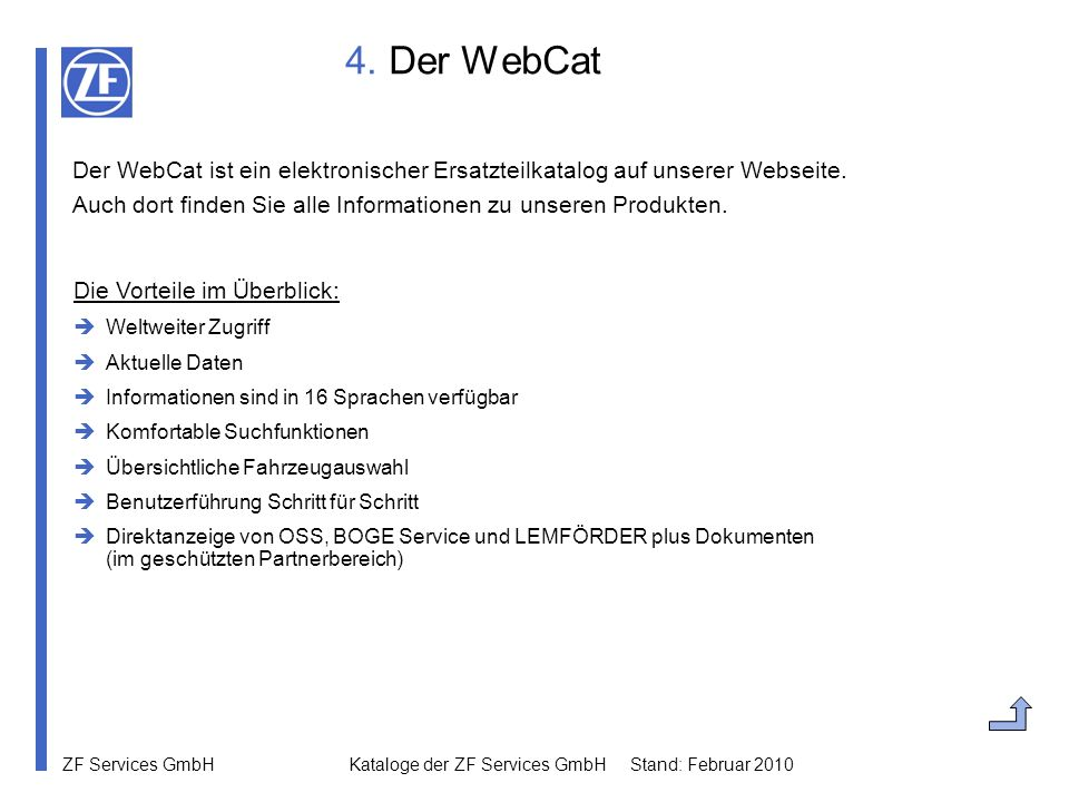 4. Der WebCat