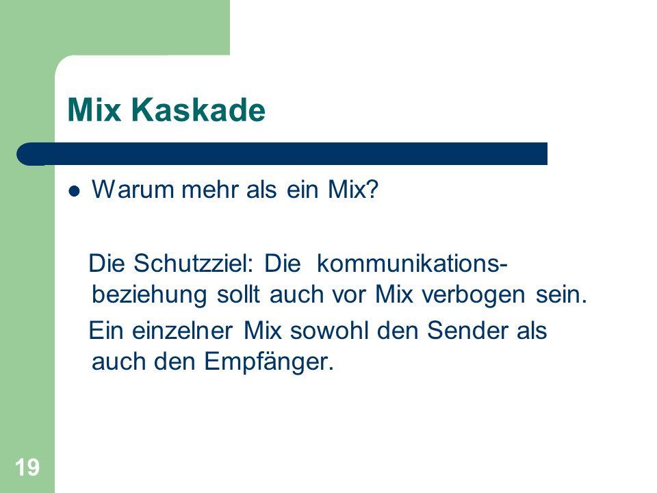 Mix Kaskade Warum mehr als ein Mix