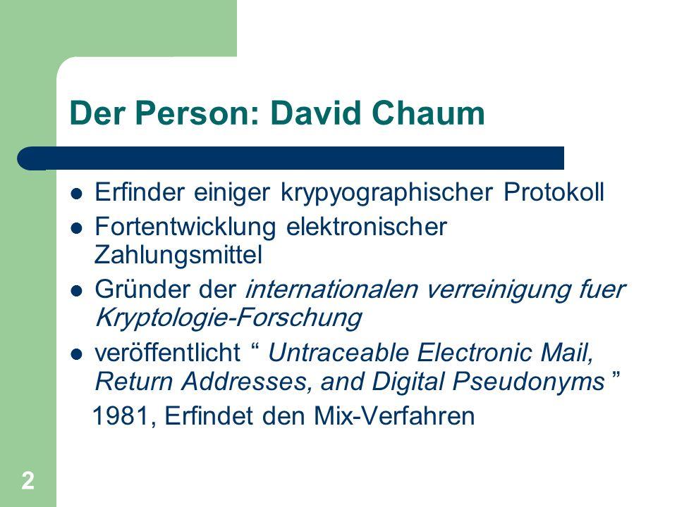 Der Person: David Chaum