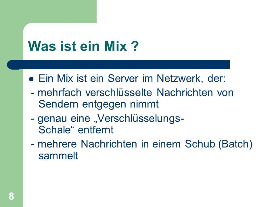Was ist ein Mix Ein Mix ist ein Server im Netzwerk, der: