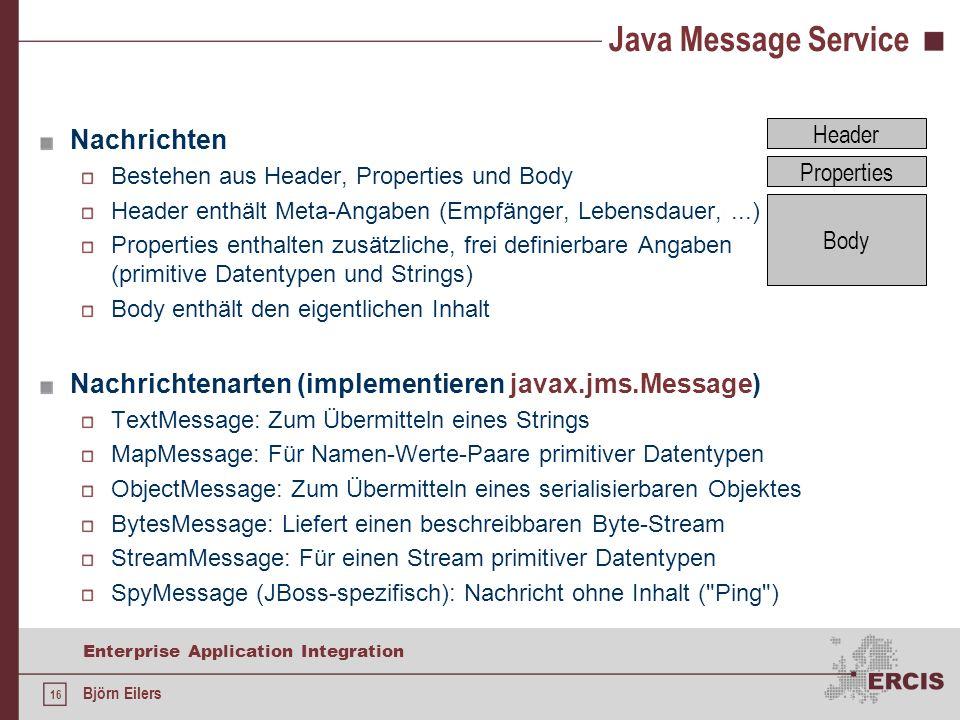 Java Message Service Nachrichten