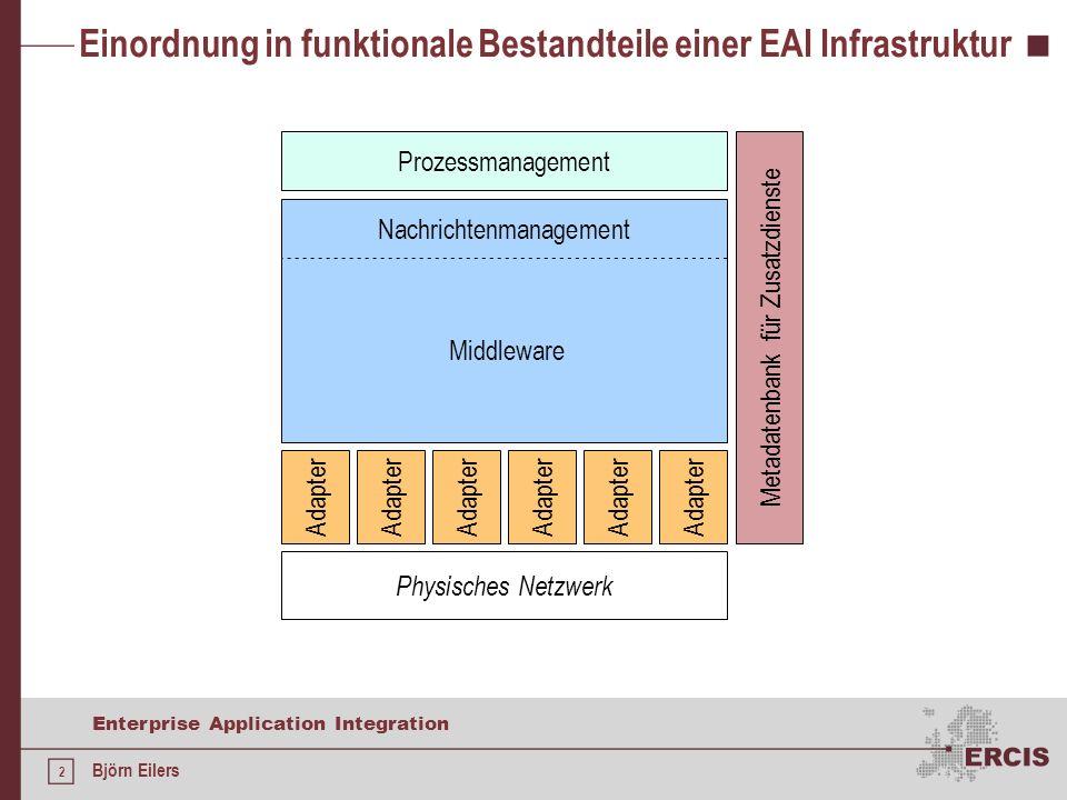 Einordnung in funktionale Bestandteile einer EAI Infrastruktur