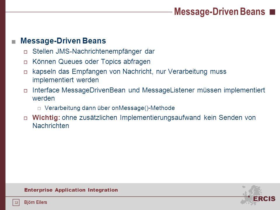 Message-Driven Beans Message-Driven Beans