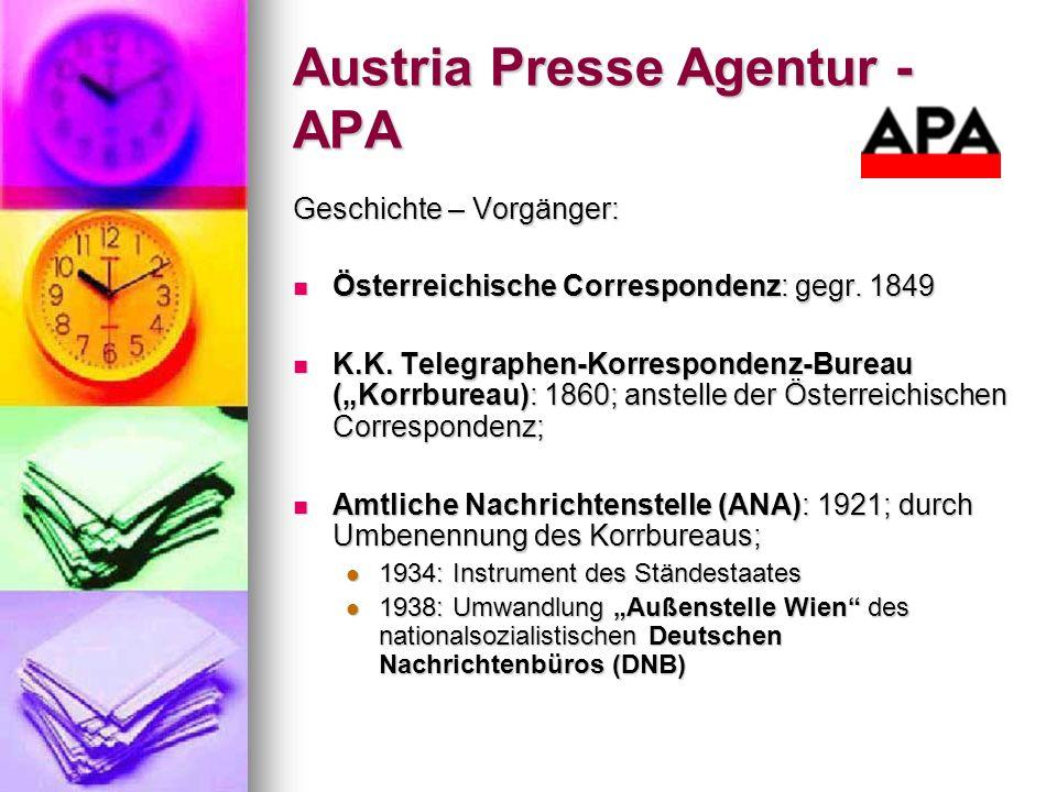 Austria Presse Agentur - APA