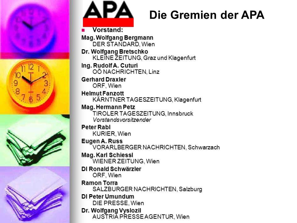 Die Gremien der APA Vorstand: