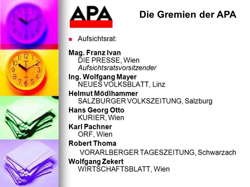 Die Gremien der APA Aufsichtsrat: