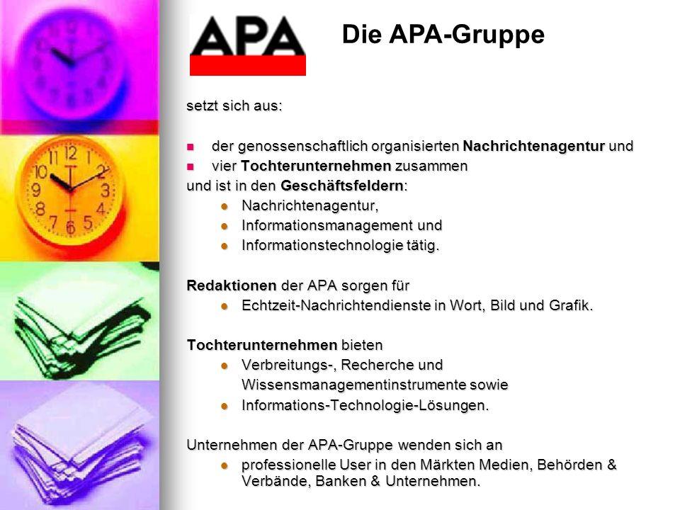 Die APA-Gruppe setzt sich aus: